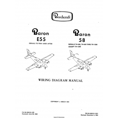 Beechcraft Baron E55(Serials TE-1064 AND AFTER) 58(Serials
