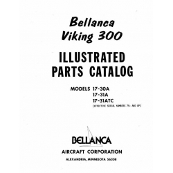Bellanca Viking 300 Parts Catalog 17-30A-31A-31ATC $13.95