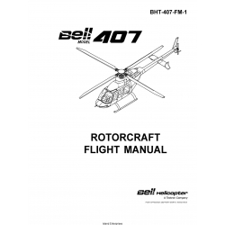 Bell Model 407 Rotorcraft Flight Manual BHT-407-FM-1 $19.95