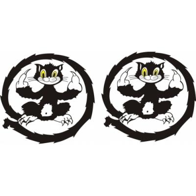 Cat Decal,Sticker 6''round diameter!