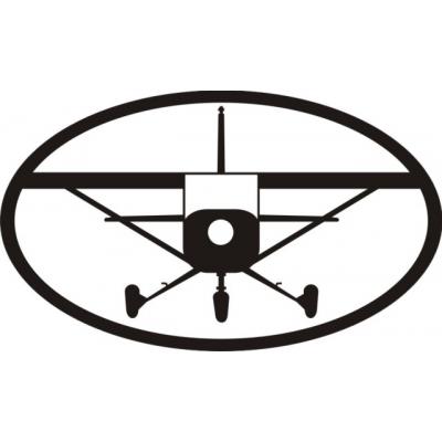 Black Plane Decal/Vinyl Sticker 10