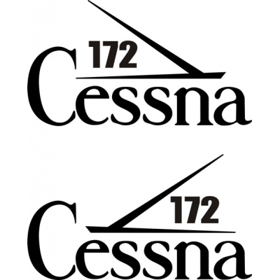 Cessna 172 Aircraft Tail Decal,Stickers!