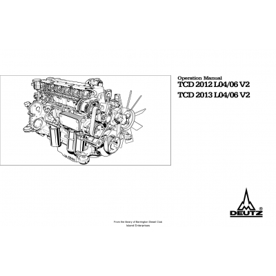 Deutz Engine TCD 2012-2013 L04-06 V2 Operation Manual