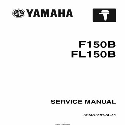 Yamaha F150B FL150B Motorcycle 6BM-28197-5L-11 Service