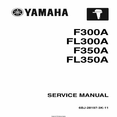 Yamaha F300A, FL300A, F350A, FL350A Motorcycle Service