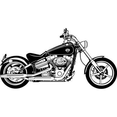 FXCVC Softail Motorcycle Decal/Sticker 12