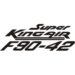 Beechcraft Super King Air F90-42 Aircraft Decal,Sticker!