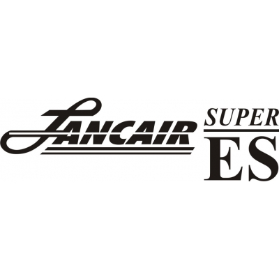 Lancair Super ES Aircraft Decal/Sticker 3 1/4''high x 12 1