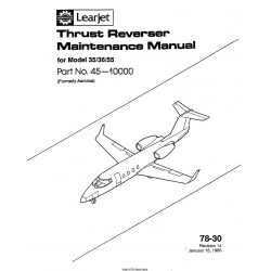 Learjet Model 35-36-55 Thrust Reverser Maintenance Manual