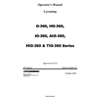 Lycoming O-360, HO-360, IO-360, AIO-360, HIO-360 & TIO-360