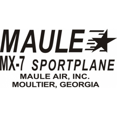 Maule MX-7 Sportplane Aircraft Decal/Sticker 2 1/2''high x