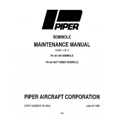 Piper Seminole/Turbo Maintenance Manual PA-44-180/PA-44