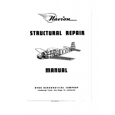 Navion Structural Repair Manual $9.95