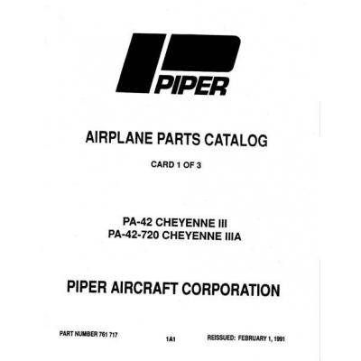 Piper Cheyenne III, IIIA Parts Catalog PA-42 PA-42-720 $13