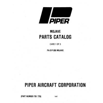Piper Mojave Parts Catalog PA-31P-350 $13.95 Part # 761-776