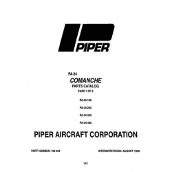 Piper Comanche Parts Catalog PA-24-180/250/260/400 $13.95