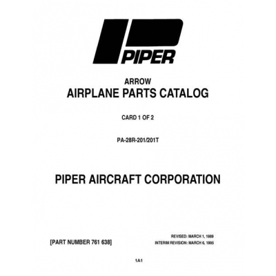 Piper Arrow Parts Catalog PA-28R-201/201T $13.95 Part