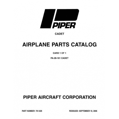 Piper Cadet Parts Catalog PA-28-161 $13.95 Part # 761-828