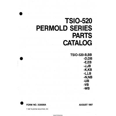 Continental TSIO-520 Permold Series Parts Catalog X30580A