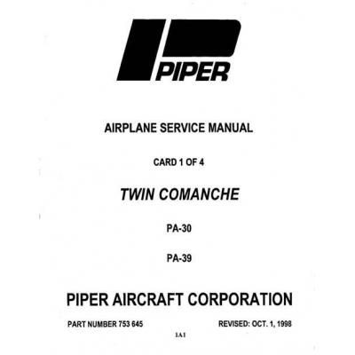 Piper Twin Comanche Service Manual PA-30/PA-39 $13.95 Part