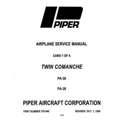 Piper Twin Comanche Service Manual PA-30/PA-39 $13.95 Part