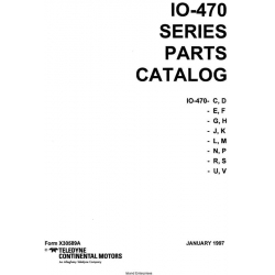 Teledyne Continental Motors IO-470 Series Parts Catalog $13.95