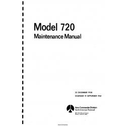 Rockwell Aero Commander Model 720 Maintenance Manual $29.95