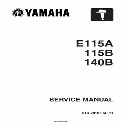 Yamaha E115A 115B 140B Motorcycle 61U-28197-5H-11 Service