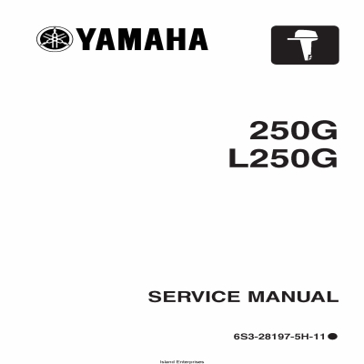 Yamaha 250G L250G Motorcycle 6S3-28197-5H-11 Service