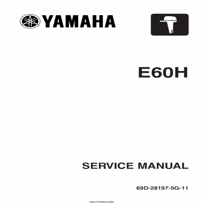 Yamaha E60H Motorcycle 69D-28197-5G-11 Service Manual 2004