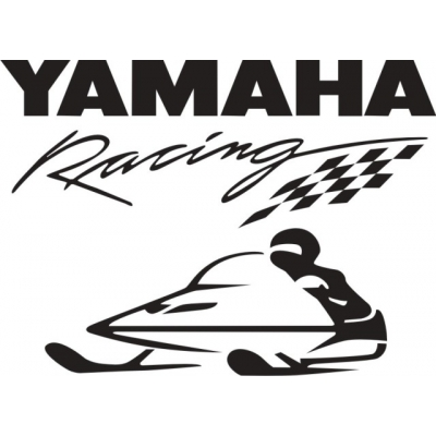 Yamaha Racing Snowmobile Vinyl Sticker/Decal 10