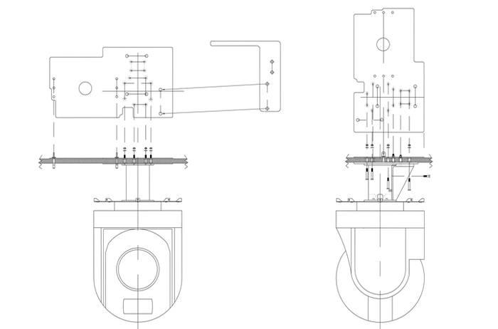 Bell 212, 412, FLIR Systems Safire Imager Quick Mount Kit