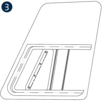 Time-Saver Rubber Mounted Windows, Replacement, Bell 206L