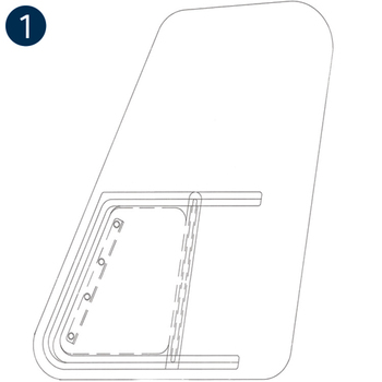 Time-Saver Rubber Mounted Windows, Replacement, Bell 407