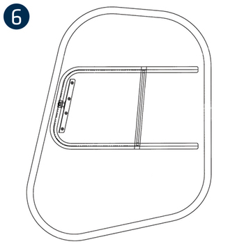 Time-Saver Rubber Mounted Windows, MD Helicopters 500C