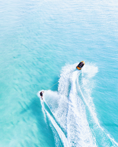 Tow In Surf Aerial