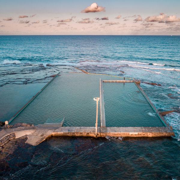 Aerial of Ocean Rock Pool