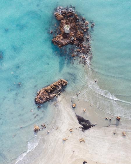 Cape Hillsborough Beach Aerial