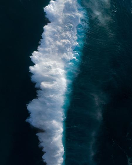 Giant Wave Crashing Aerial