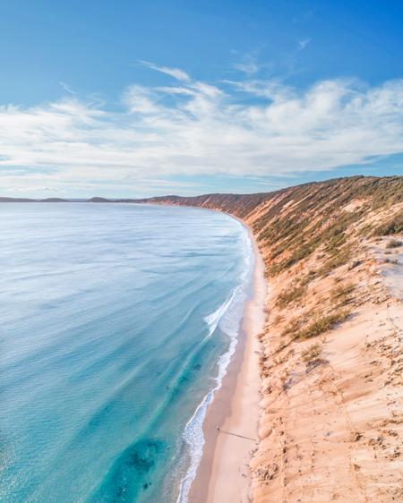 Aerial Photo of Rainbow Beach Dunes