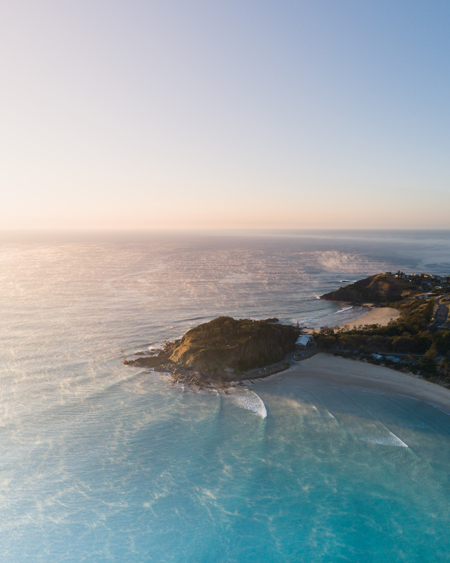 Aerial of Scotts Head Point