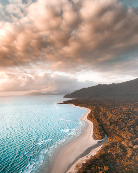 Aerial of Cape Tribulations Coastline