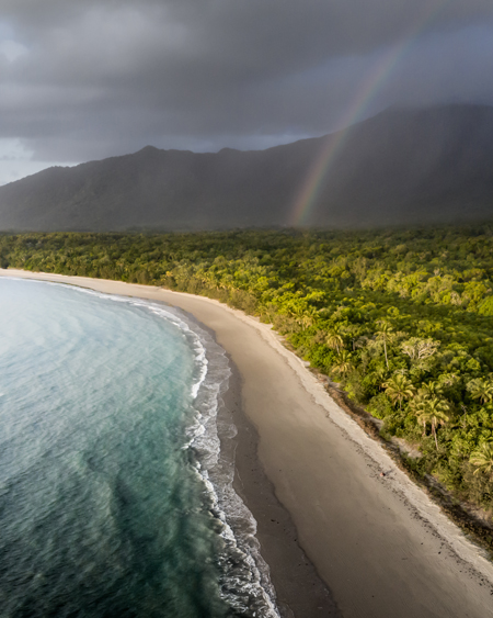 Drone Photo of Rainbow in the Daintree Rainforest