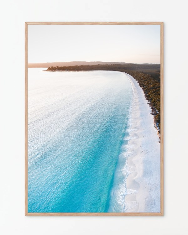 Hyams Beach Aerial Wall Art Print