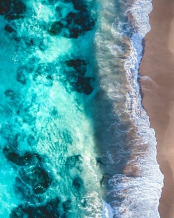 Turquoise Ocean Aerial