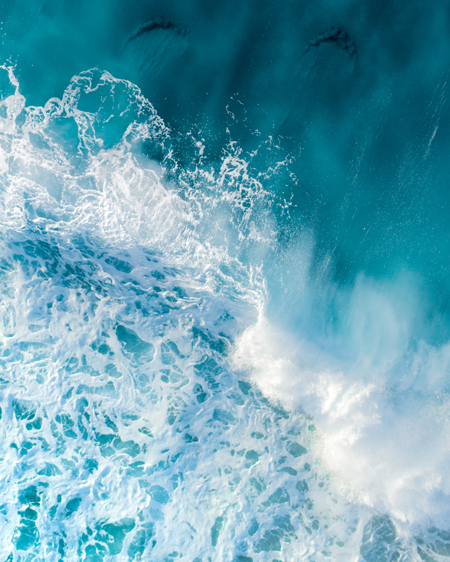 Ocean Captured By Drone