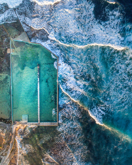 Aerial Of North Narrabeen Ocean Pool