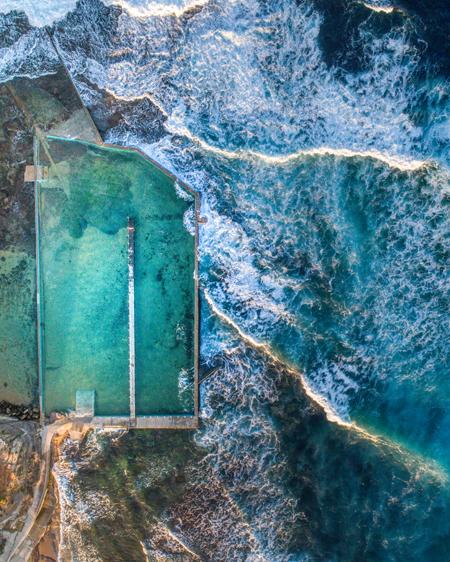 Aerial Of North Narrabeen Ocean Pool