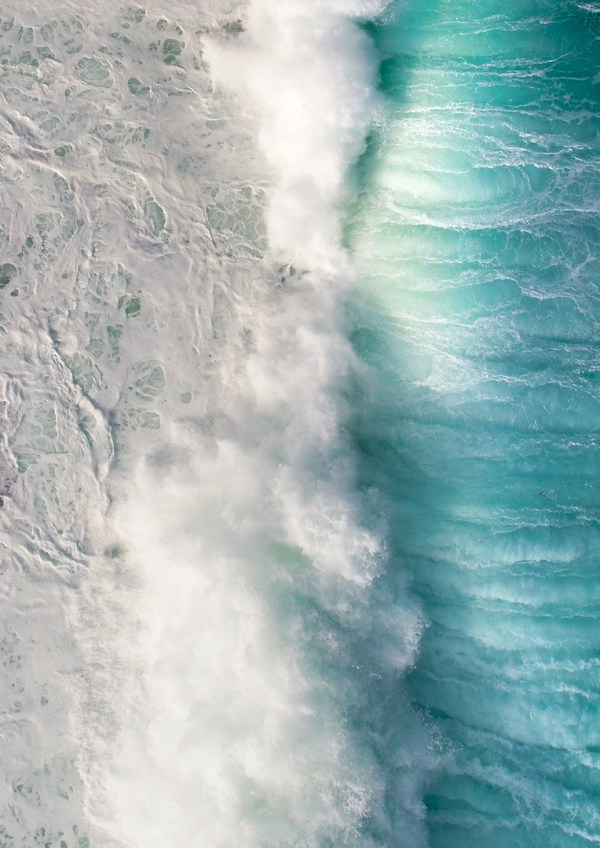 Ocean Top Down Wall Art Print