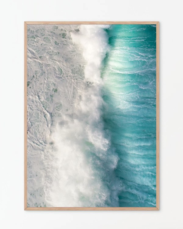 Ocean Top Down Wall Art Print